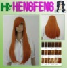 long straight women synthetic cosplay wig