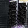 loose curl wave human hair weaving natural color