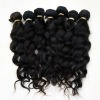 loose wave remy hair extension virgin machine hair weft