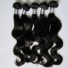 machine weft hair wavy brazilian virgin hair extension