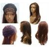 machine welf hair lace wig/ human hair wig