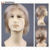 men style light color full lace wig