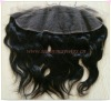 "natural Mongolian body wave hair lace frontal (4""x13"")"