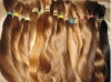 natural blond color european human hair bulk/extensions