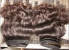 natural color indian virgin remy human hair extension/weave
