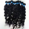 natural color virgin brazilian wavy human hair sew in weave