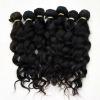 natural curly cuticle hair weft 100% brazilian human hair
