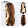 natural straight good density lace wigs