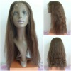 natural wave 20inch 4# indian hair lace wig