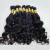 natural wave human hair bulk in stock