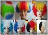 new arrival crazy colorful fan wigs for wholesale