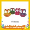 owl-shape design rubber toy with shower gel