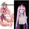 perfect-cool DearS Miu Commission Long Pink Cosplay synthetic Wig