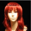 perfect-cool Inches Long Red Cosplay synthetic Wig