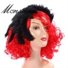 perfect-cool black and red fans synthetic wig