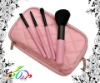 pink handle brush sets makeup