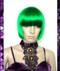 popular green carnival party wig