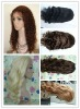 popular virgin European full lace human hair wig /various lace and texture color