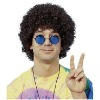 pw-112 brown economy party afro wig