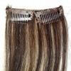 remy P color  clips on hair weft