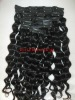 remy hair curly clip in hair extensions
