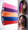 remy highlights streaks 100% tangle free human hair clip in/on/hair extension