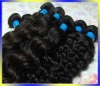 remy virgin Brazilian human hair weft extensions brazilian weft hair deep wave 100g/pcs any color any length