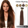 rich copper red Charming Human stick tip hair extensions
