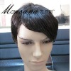 short hot selling charming and mature full lace human hair wig/men's wig