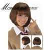 short silk straight wave human hair wig for lovely ladies