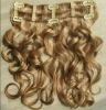 silky straight 10pcs full head clip in hair extensions