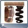 skin weft hair / high quality human hair