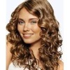stock golden perfect curl hair wigs