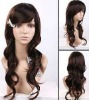 sweet girl long wave human full lace wig