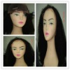 swiss lace full lace Brazilian kinky curl human hair wig with snap clip