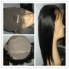 swiss lace full lace Indian straight human hair wig