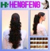 synthetic claw clip curly ponytail