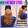 synthetic hair curly blond ponytail