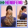 synthetic hair pieces curly blond ponytail