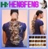 synthetic hair pieces long curly blond ponytail