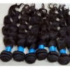 tangle fee brazilian virgin remi hair weaving machine hair weft