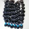 thin weft virgin brazilian hair weaving remy human hair