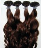 top quality 100% human hair body wave Keratin hair extensions