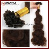 top quality body wave nail tip hair extension