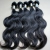 top quality peruvian virgin hair weft full cuticle very soft and smooth