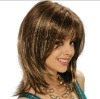 unprocessed virgin 20inch silky straight style hand-tied finest swiss lace basis full lace wig