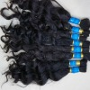 virgin brazilian hair weft natural color dark with a little brown