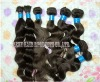 virgin remy human bulk braiding hair in bulk extension deep wave brown