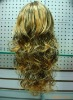 well design,lady's elegant, blonde,long wave,human hair ,hair piece ,hair extension