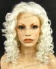 white color new fashion style synthetic lace wigs